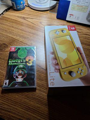 Nintendo switch Lite + Luigi's Mansion(Sealed) for Sale in San Diego, CA