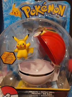 Pokémon Pikachu And Great Ball Clip 'N' Carry Poké Ball Action Figure for Sale in Gainesville,  FL