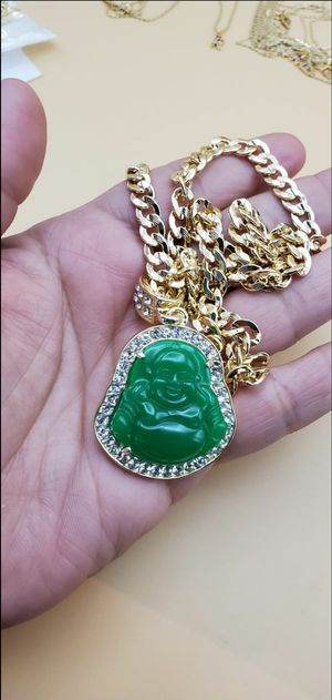 Green Buda with Cuban chain for Sale in Bakersfield, CA