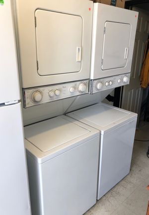 Whirlpool stackable washer and electric dryer for Sale in San Diego, CA