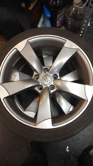 2 audi s4 rims with decent tires sz 19 for Sale in Marlborough, MA