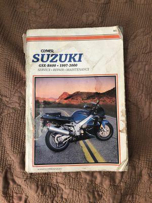 Suzuki maintenance and repair manual for Sale in San Antonio, TX