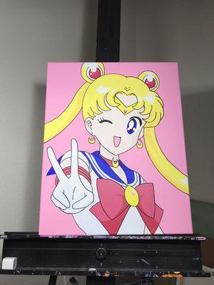 Sailor moon custom painting anime manga comic custom painting for Sale in Santa Monica, CA