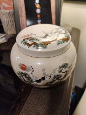 Asian lidded pot of unknown age and origin for Sale in Lynnwood, WA