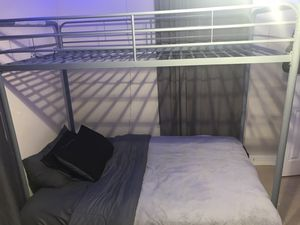 Bunk bed full futon and twin top bunk for Sale in Fresno, CA