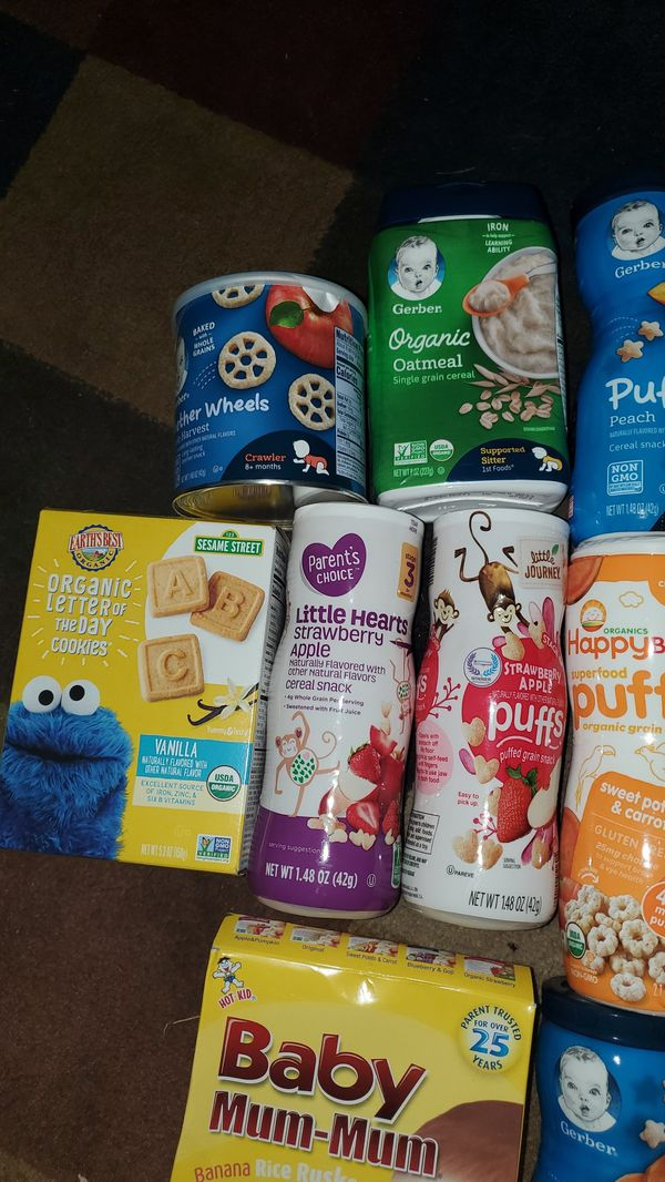 Baby Snacks lot all in pic for $9