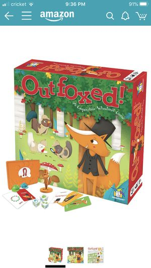 Outfoxed cooperative kids whodunit board game for Sale in Hillsborough, CA