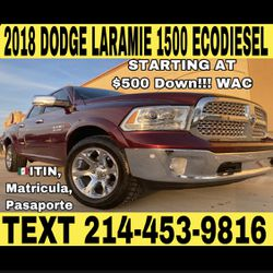 2018 DODGE LARAMIE 1500 ECODIESEL for Sale in Fort Worth,  TX