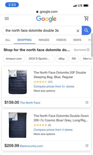 the north face dolomite double 3s sleeping bag for Sale in Houston, TX