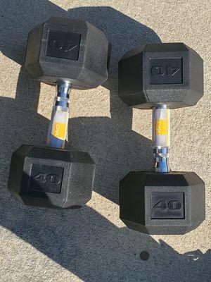 Brand new pair of 40 lb dumbbells for Sale in Hemet, CA