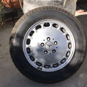 4 Factory Mercedes Benz Alloy Wheels with tires for Sale in West Covina, CA