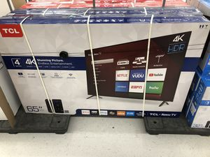 """TCL 65"""" Roku Tv HDR 4K Free wall mount install & free delivery for Sale in Bellevue, WA"""