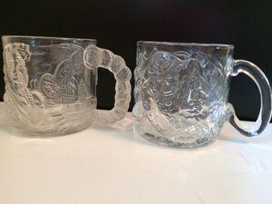 """(2) Batman Forever 1995 Glass Mugs """"The Riddler"""" + """"Two-Face"""" for Sale in Granger, IN"""