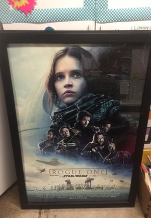 Star Wars Rogue One DS framed poster for Sale in Pleasanton, CA