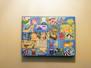 Kids wall decor: alphabet zoo canvas wall art for Sale in Dulles, VA