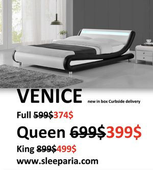 Full Queen King bed Delivery Modern Contemporary in Box Venice Cama Queen Delivery Modern Contemporary for Sale in West Palm Beach, FL