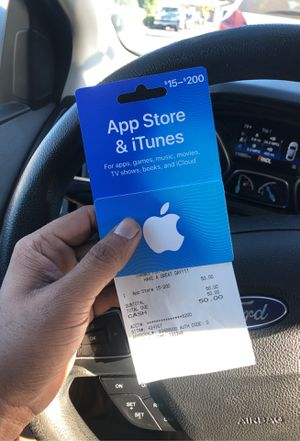 I Tunes card with balance $50 for Sale in San Jose, CA