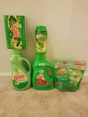 Gain laundry detergent bundle - $20 not negotiable for Sale in Rockville, MD