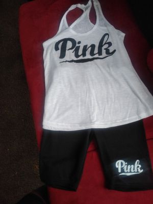 Black tank Pink short set for Sale in Amarillo, TX