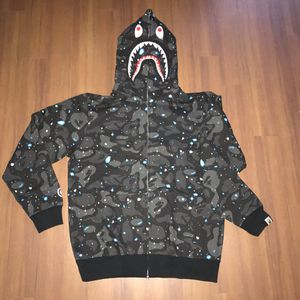 Bape A Bathing Ape Space Camo Shark Hoodie Sz L for Sale in Boston, MA