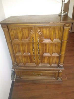 Tall hard wood dresser for Sale in St. Louis, MO
