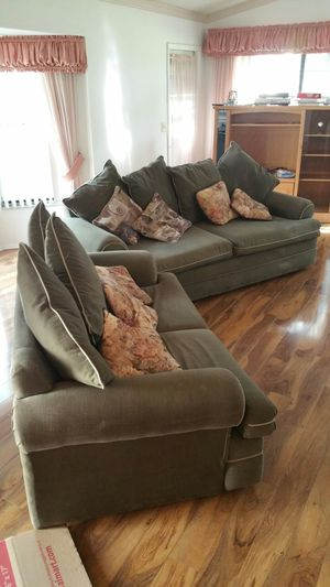 SET OF TWO SOFAS ONE IS A SOFA BED BOTH IN GREAT CONDITION for Sale in Brooksville, FL