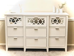 Pottery Barn Dresser w/ Mirror and Faux Alligator Skin Detailing for Sale in Gaithersburg, MD