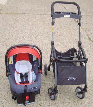 Graco infant car seat ( new ) plus stroller frame for Sale in Philadelphia, PA