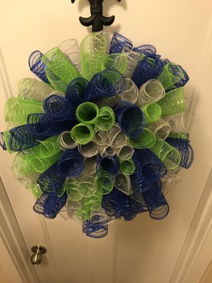 Seahawks Inspired Wreath for Sale in Tacoma, WA