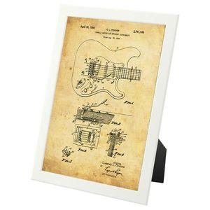 Vintage Fender Guitar patent - framed print for Sale in Fairfax, VA