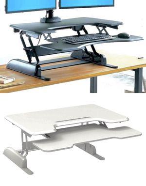 "New in box 36"" wide Logix Desk LDCX3604B Logix Desk height adjustable stand up standing improve posture desk desktop laptop Black or White color reta for Sale in Whittier, CA"