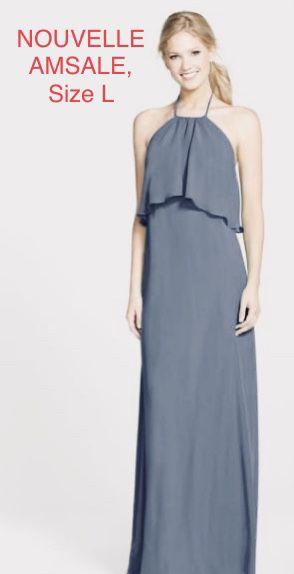 NOUVELLE AMSALE, Gray Tie Chiffon Dress, Size L for Sale in Phoenix, AZ