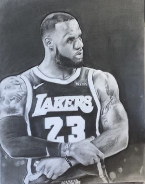Original Lebron James Drawing for Sale in Downey, CA