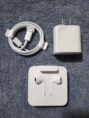 Original Unopened Apple Charger + Headphones for Sale in Brockton, MA