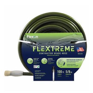 Flexon 5/8 in. x 100 ft. Contractor Grade Hose with Guard & Grip for Sale in Moreno Valley, CA