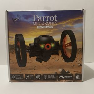 Wireless Parrot Minidrones Jumping Sumo with Stickers and Micro USB Cable for Sale in Garner, NC