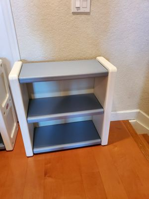 BUY ONE GET ONE FREE Vintage Little Tikes Blue White 2 Shelf Child Size Bookcase/BOOKSHELF for Sale in Fort Lauderdale, FL