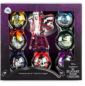 Disney Nightmare before Christmas Christmas ornament set with Santa Jack tree topper for Sale in Glendora, CA