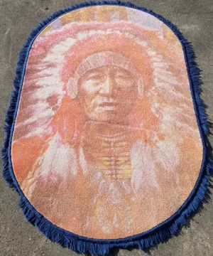 Indian chief 4x6 area rug new beautiful for Sale in Three Rivers, MI