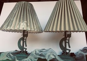 Set of 2 Arizonian metal art Desk lamps H17xW13 inch for Sale in Chandler, AZ