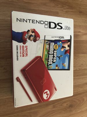 Nintendo DS Lite Limited Edition Red Mario with New Super Mario Bros. for Sale in South San Francisco, CA