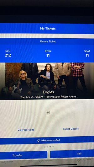 Eagles tickets for Sale in Gilbert, AZ