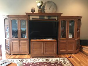 Wood Entertainment Center for Sale in Miccosukee, FL