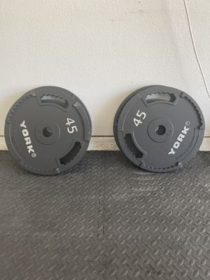 2 pairs of Iron 45lb plates! 180LBs total! for Sale in Rockwall, TX
