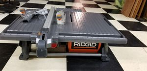 RIDGID 6.5 Amp Corded 7 in. Table Top Wet Tile Saw for Sale in Algonquin, IL