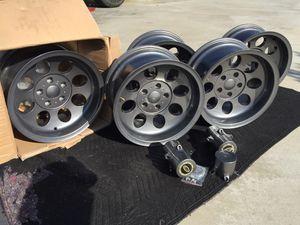 "5 15x8 aluminum wheels Jeep wrangler YJ TJ xj cherokee 5x4.5 15"" procomp for Sale in Los Angeles, CA"