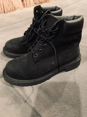Black timberlands size 2 Youth or 4 women's for Sale in Spring Hill, FL