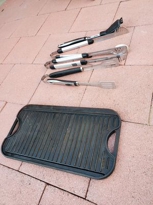 BBQ grill tray and tool set $30. for Sale in San Leandro, CA