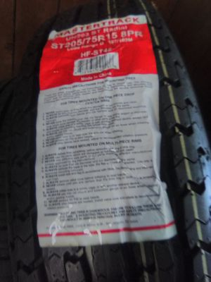 205-75-15 8 ply trailer tire each for Sale in CORP CHRISTI, TX