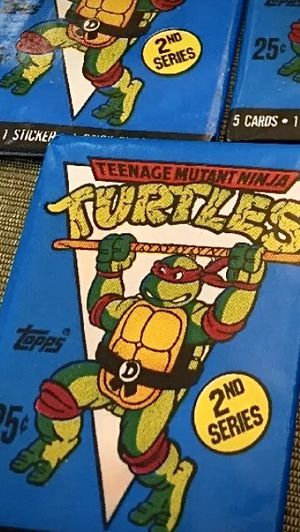 Teenage Mutant Ninja Turtles TMNT vintage Wax Pack Sealed Lot Of 5 for Sale in Irving, TX